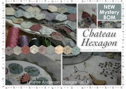 "2013 Button Club BOM ""Chateau Hexagon"""